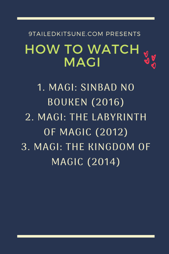 How To Watch Magi In The Right Order 9 Tailed Kitsune
